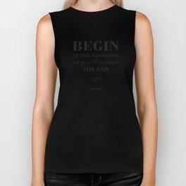 08. Begin at the beginning Biker Tank
