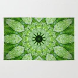 Green Mandala Plant Rug