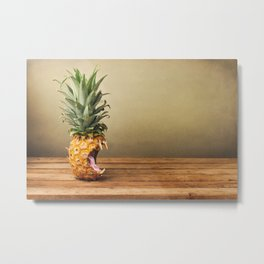 Pineapple is hungry Metal Print