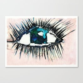 Eyes taped open Canvas Print