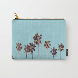 palm trees turquoise Carry-All Pouch