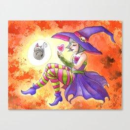 Witch Familiar Canvas Print