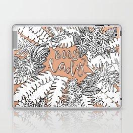Boss Lady  - Peach Botanical Laptop & iPad Skin