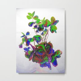 Cut clovers, databending/vector painting/dream smoothing rendition. Metal Print