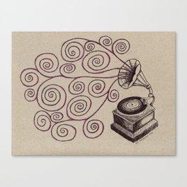 Music Spiralling Canvas Print