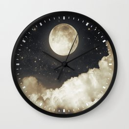 Touch of the moon I Wall Clock