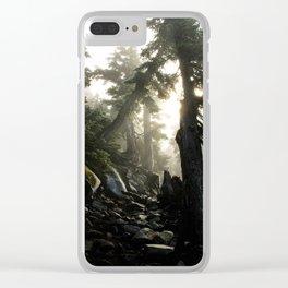 Foggy Footpath Clear iPhone Case