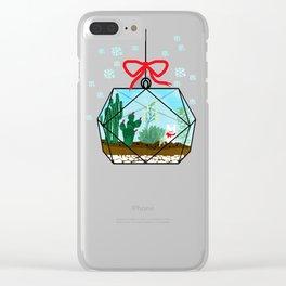 Cactus Terrarium Christmas Gift Clear iPhone Case