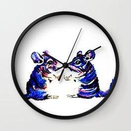 When Acrylic Chinchilla meets Colour Pencil Chinchilla Wall Clock