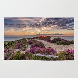 Headon Hill Sunset Isle Of Wight Rug