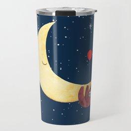 Sloth with the Moon Travel Mug
