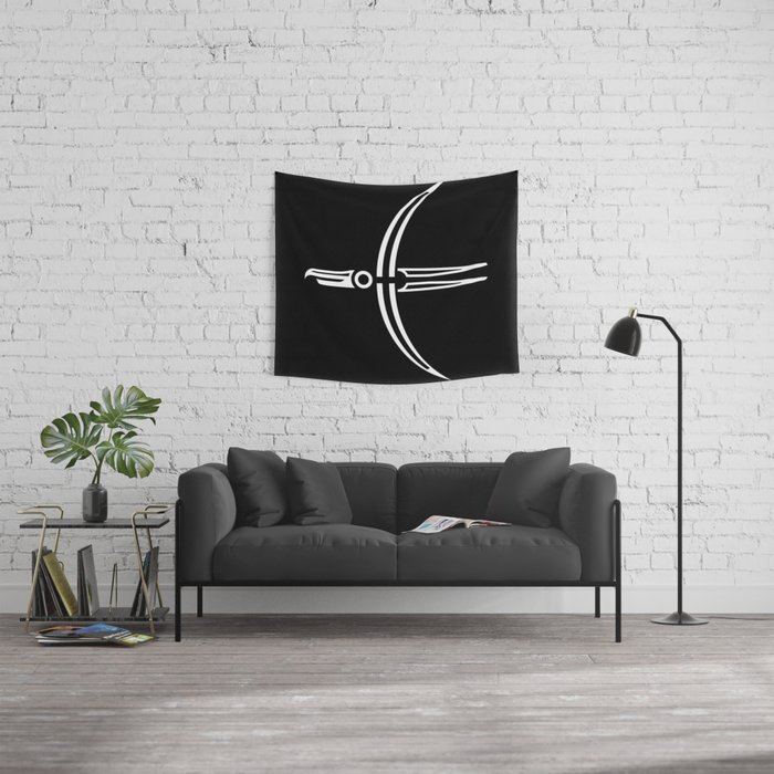 Moon Raven Wall Tapestry