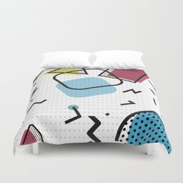 Modernistic abstract shape pattern texture Duvet Cover