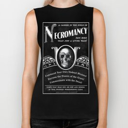 Faux School of Necromancy Recruitment Poster Biker Tank
