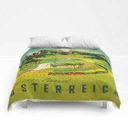 Vintage poster - Austria Comforters