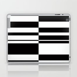 Abstract striped pattern. black and white . Laptop & iPad Skin