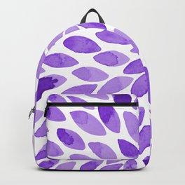 Watercolor brush strokes - ultra violet Backpack