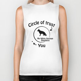 Circle of trust my White German Shepherd Biker Tank