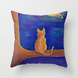 Fairy on the Moon Throw Pillow