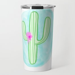Spray Painted Catus Travel Mug