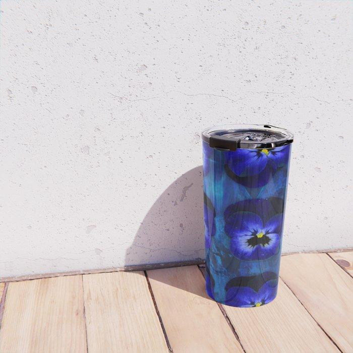 Deep Blue Velvet Travel Mug
