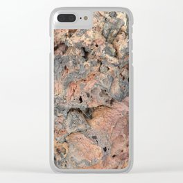 Iceland Rocks: Red Rhyolite Edition Clear iPhone Case