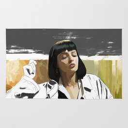 PULP FICTION | PAINTING | Girl, You'll Be a Woman Soon | Quote | Vintage Style Poster | Print #M43 Rug