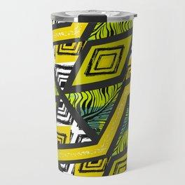 Yellow tropical vibes Travel Mug