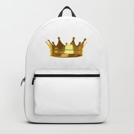 Royal Shining Golden Crown for King or Queen Backpack