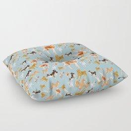 Japanese Dog Breeds Floor Pillow