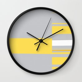 Mosaic Single 1 #minimalism #abstract #sabidussi #society6 Wall Clock