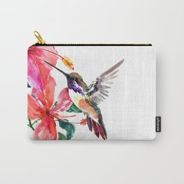 Hummingbird and Hibiscus Carry-All Pouch