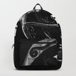 Orca Flow black-and-white Backpack