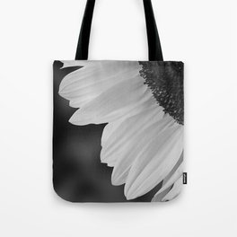 Black and White Sunflower Photography Print Tote Bag