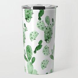 Green Cactus Field - Large Travel Mug