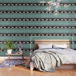 Christmas pattern with deer Wallpaper
