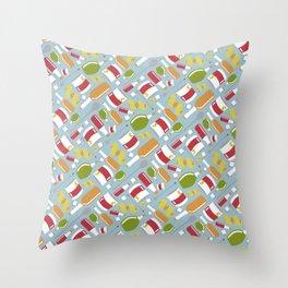 Sazarac Blue Throw Pillow