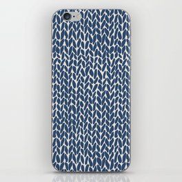 Hand Knit Navy iPhone Skin