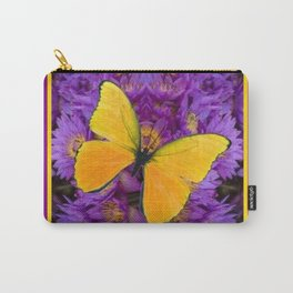 DECORATIVE LILAC-YELLOW FRAMED BUTTERFLY Carry-All Pouch