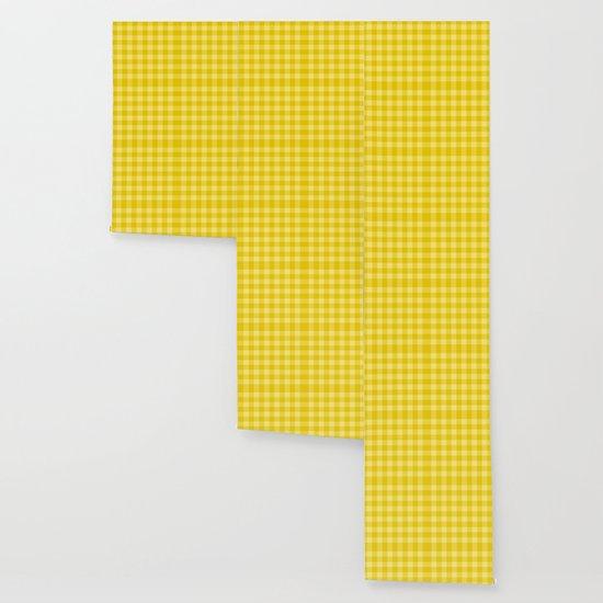 Yellow Checkered Plaid Squares