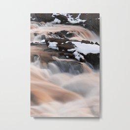 Ruby Winter Falls Metal Print