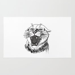 tiger angry growls ( https://society6.com/vickonskey/collection ) . Art Rug