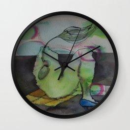 blue shoe Wall Clock