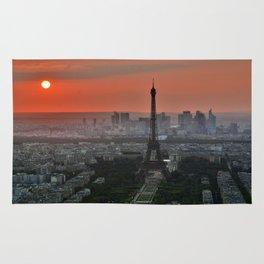 Paris le soir Tour Eiffel Rug