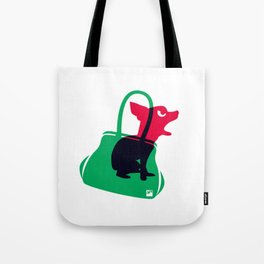 Angry animals: chihuahua - little green bag Tote Bag
