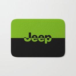 Jeep 'LOGO' Green Bath Mat