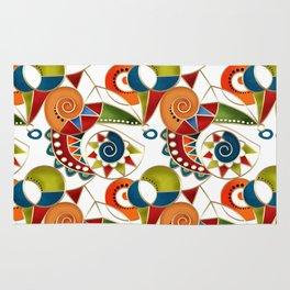 The art design. Carousel. Rug