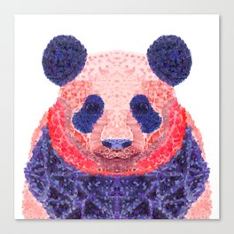 Don't Be Scared To Be Different If You're Already Rare (Panda Animal Painting Stippled Pop Art) Canvas Print