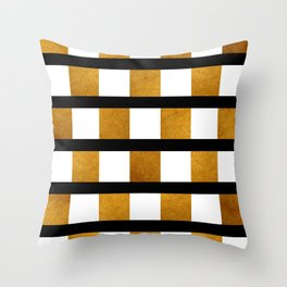Black White and Gold Throw Pillow