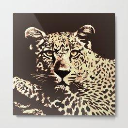 Leaopard Metal Print